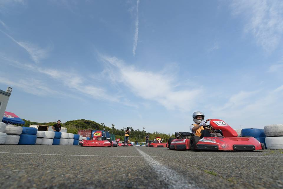 Ke-CUPの決勝レースのスタート前