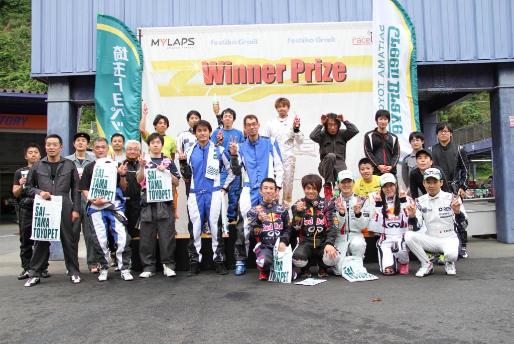 フェスティカサーキット栃木で開催されたGreenBrave耐久の最後の記念撮影