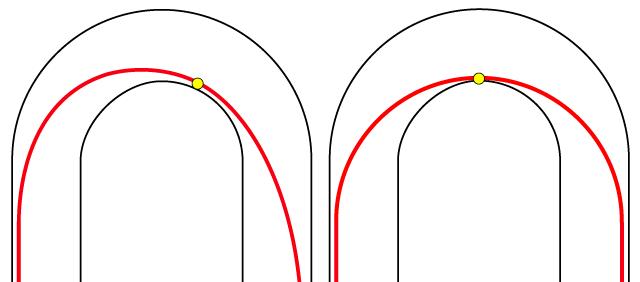 クリッピングポイント中央と奥の比較