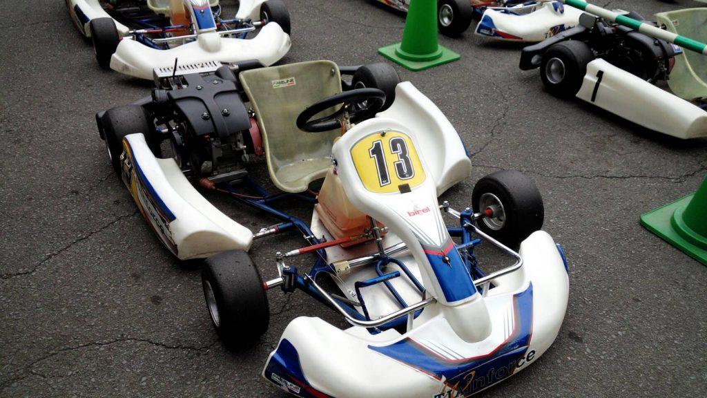 大井松田レンタルフェスタのファミ耐シリーズで使用されるレンタルカートはフレームがヤマハTIA、エンジンはヤマハMZ200を使用