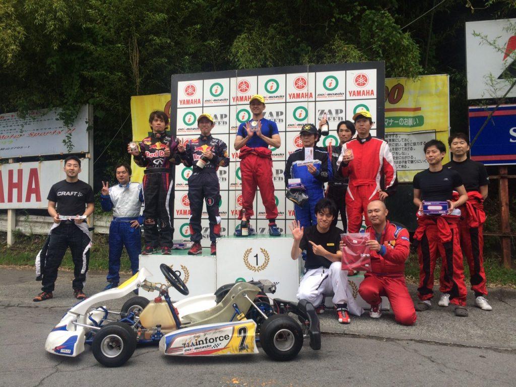 大井松田レンタルフェスタのファミ耐シリーズの表彰式