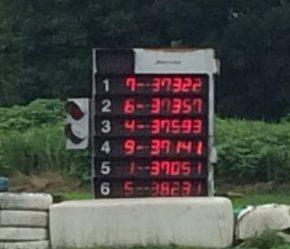 サーキット秋ヶ瀬で開催されたGreenBrave耐久の決勝レース中。トップは7号車。
