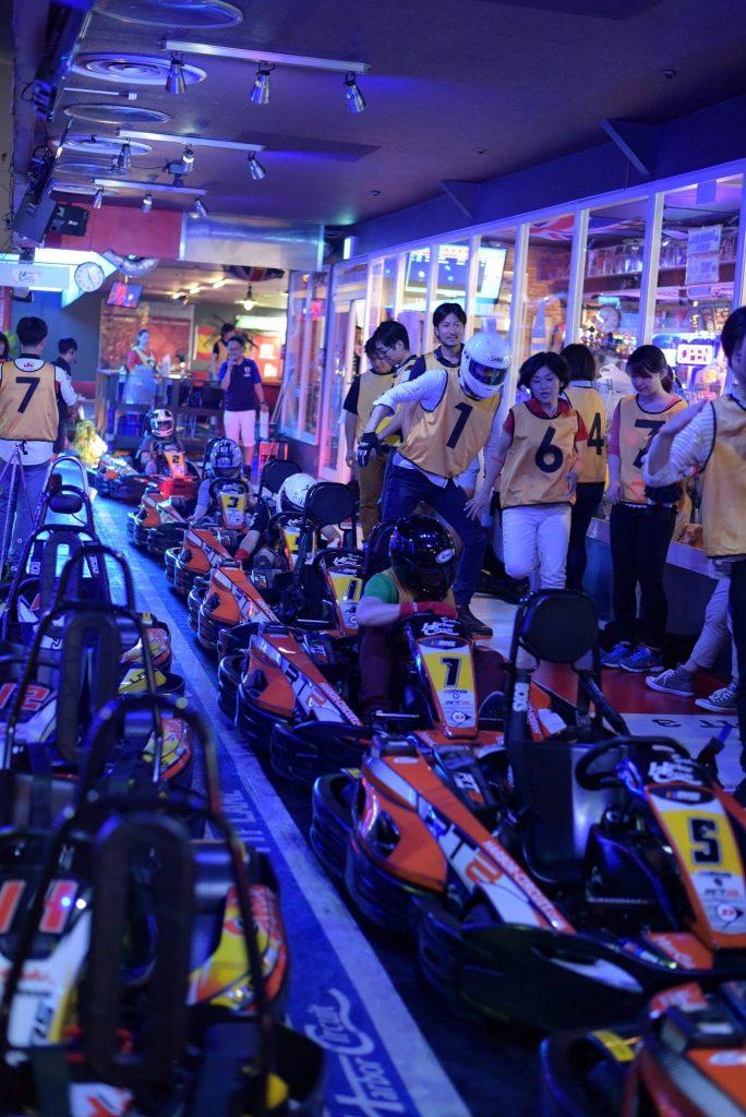 ハーバーサーキットにて行われたKe-CUPの決勝レース中の様子