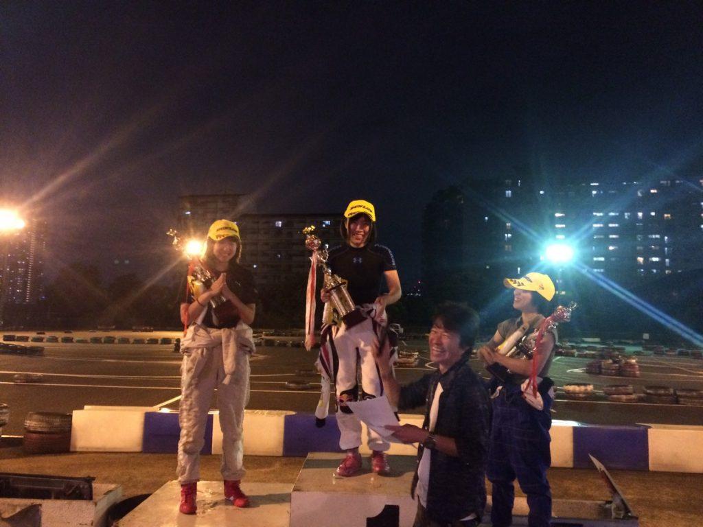 第70回CITYKART CUPレディースクラスの表彰式
