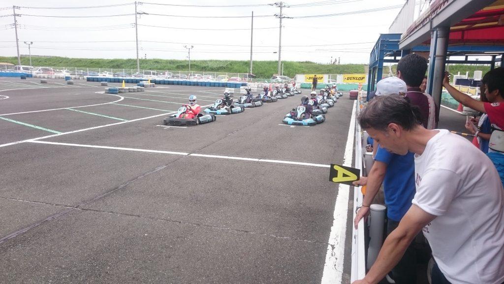 F.ドリーム平塚のフレンドリー耐久の決勝レーススタート