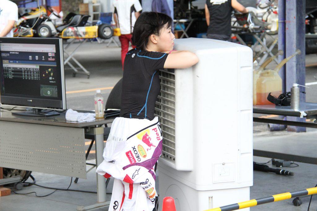 フェスティカサーキット栃木の夏のレース中はとっても暑い