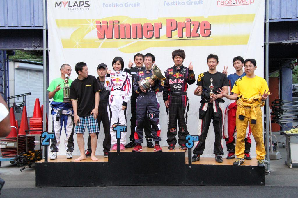 フェスティカサーキット栃木にて開催されたFECの表彰式