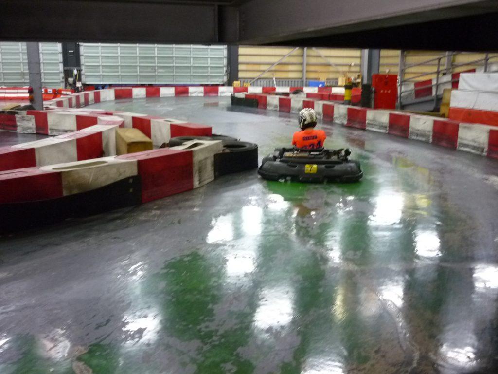 サーキットスタジアム634の2コーナーのクリッピングポイント