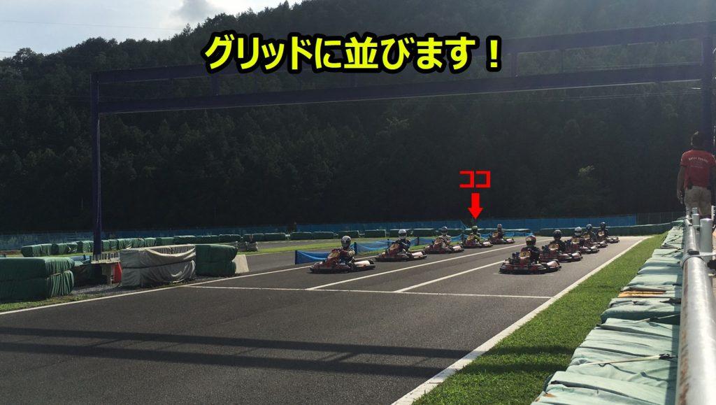 フェスティカサーキット栃木でのGreenBrave耐久のグリッド