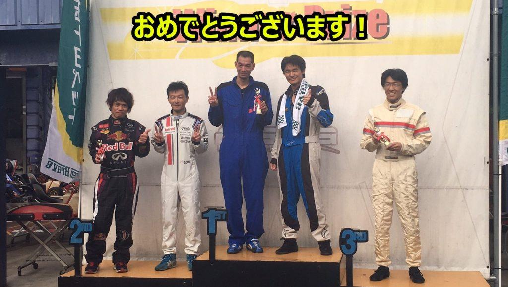 フェスティカサーキット栃木でのGreenBrave耐久の表彰台