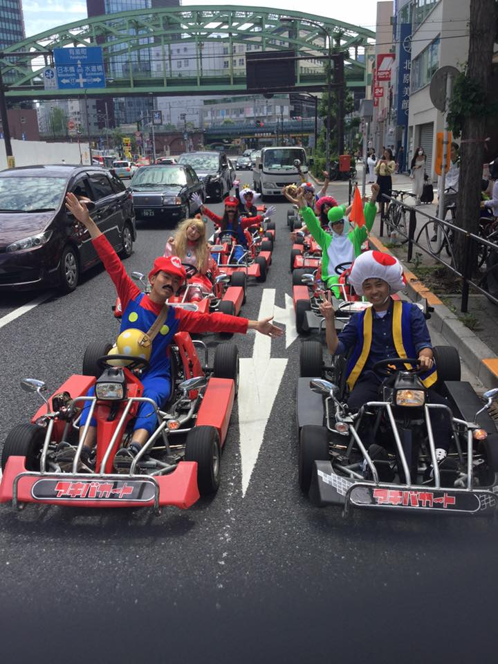 東京を爆走するリアルマリオカート!
