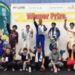 フェスティカサーキット栃木でのGreenBrave耐久の表彰式