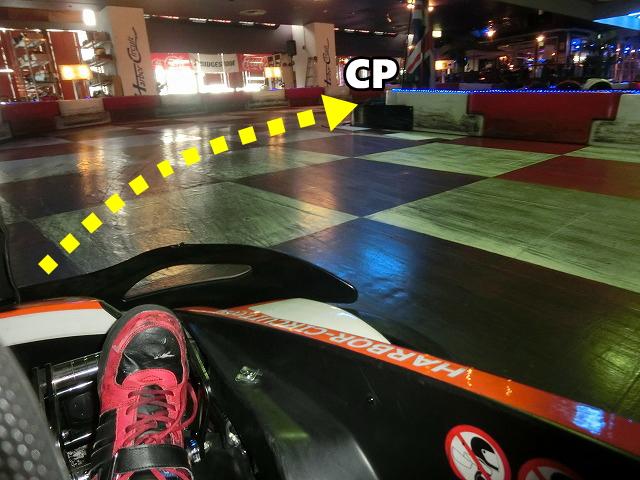 ハーバーサーキットの最終コーナーの進入