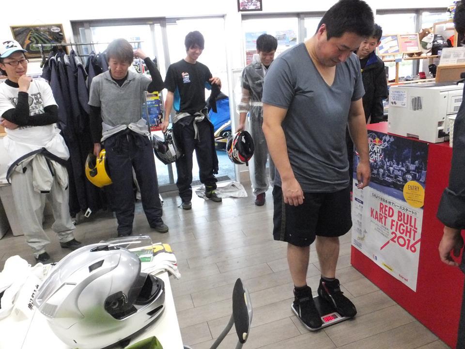 SWS木更津CUP第11戦の体重測定