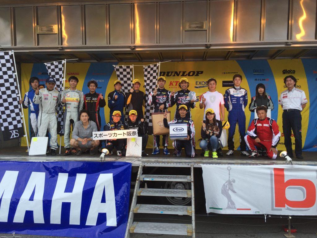2016ビレルN35日本一決定戦のチャレンジクラスの表彰式