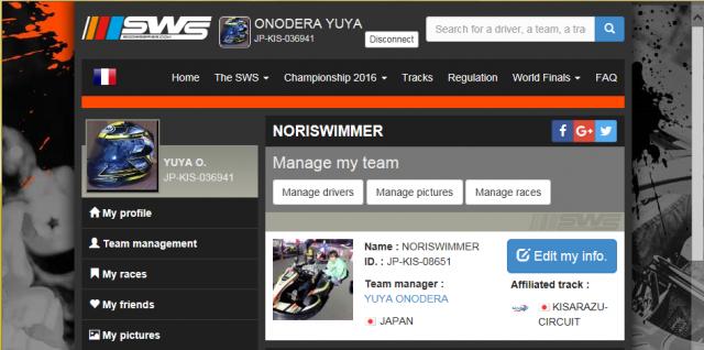 のりスイマーのSWSチームページ