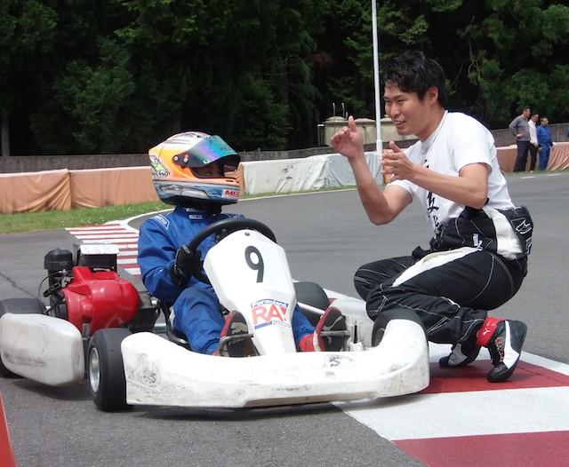 塚越広大選手のレーシングスクール