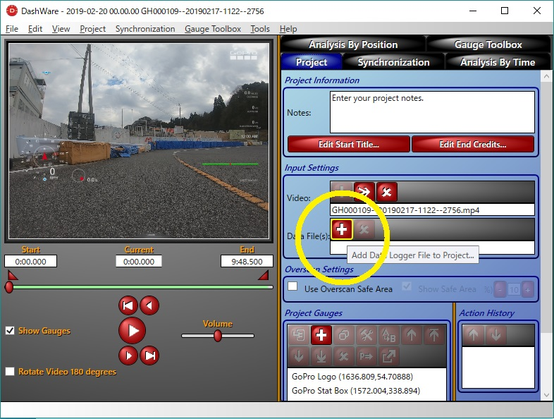 GoProで撮影した走行動画の編集 - 動画とロガーのデータを合成しよう